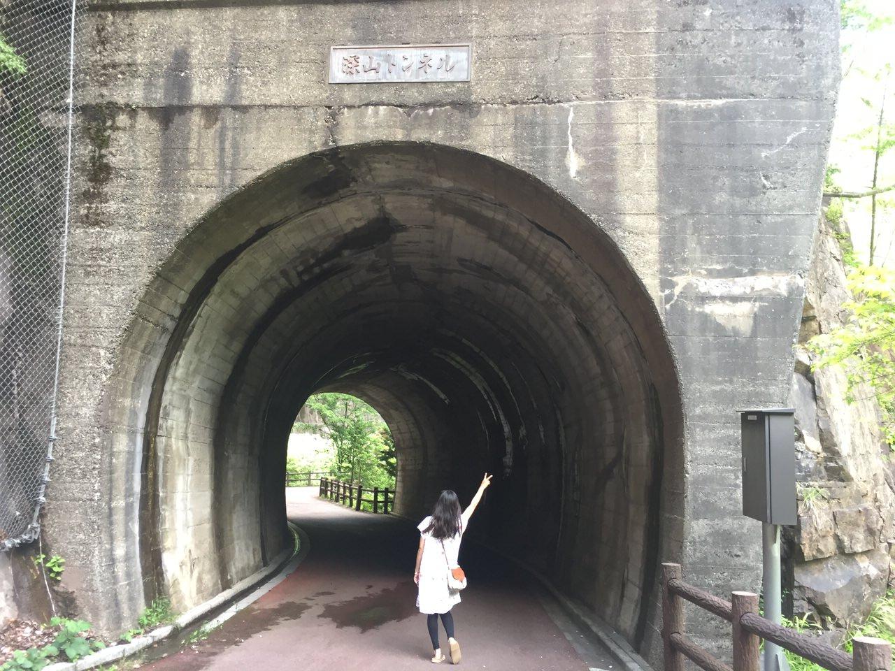 川浦渓谷のトンネル